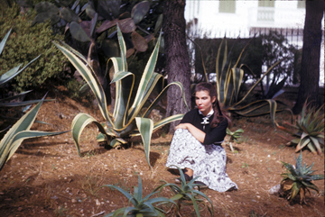 Ruth sitting by agave, 1938
