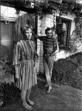 Ruth and Svetozar by the front door, Encinitas, early 1970s