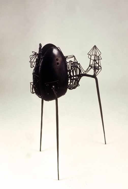 Toza, forged iron sculpture with three legs, c. 1970s